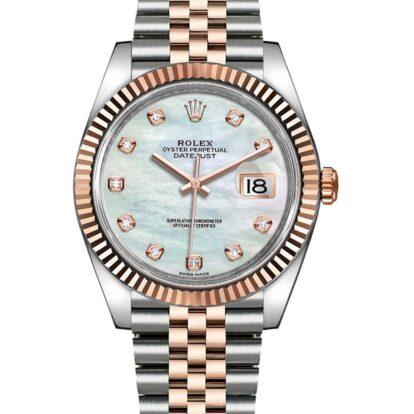 Rolex Datejust 126331 904L Oystersteel Perlmutt Weißes Zifferblatt 40MM Gehäuse