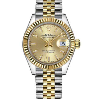 Rolex Datejust 279173 904L Oystersteel Edelstahl Champagner Zifferblatt 28MM Gehäuse