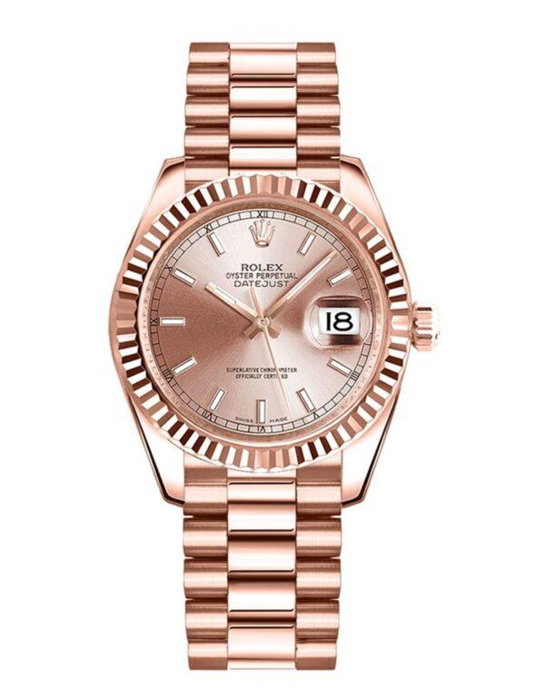 Rolex Datejust 178275 18 Karat Everose Gold Pink Dial 31MM Gehäuse