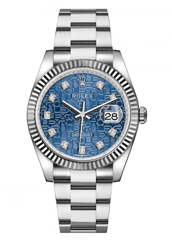 Rolex Datejust 126234 904L Oystersteel Edelstahl Blue Jubilee Dial 36MM Gehäuse