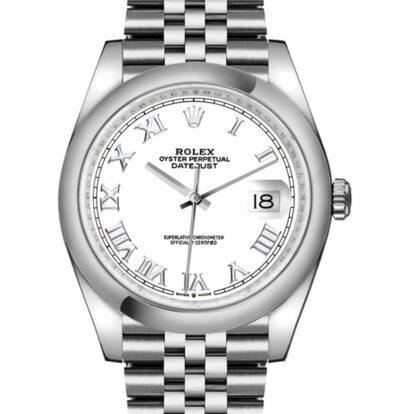 Rolex Datejust 126200 904L Oystersteel Edelstahl Weißes Zifferblatt 36MM Gehäuse