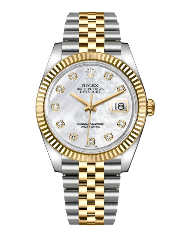 Rolex Datejust 126333 904L Oystersteel Edelstahl Perlmutt Weißes Zifferblatt 41MM Gehäuse