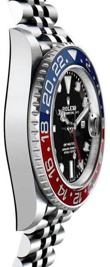 Rolex GMT-Master II 126710BLRO 904L Oystersteel Edelstahl Schwarzes Zifferblatt 40MM