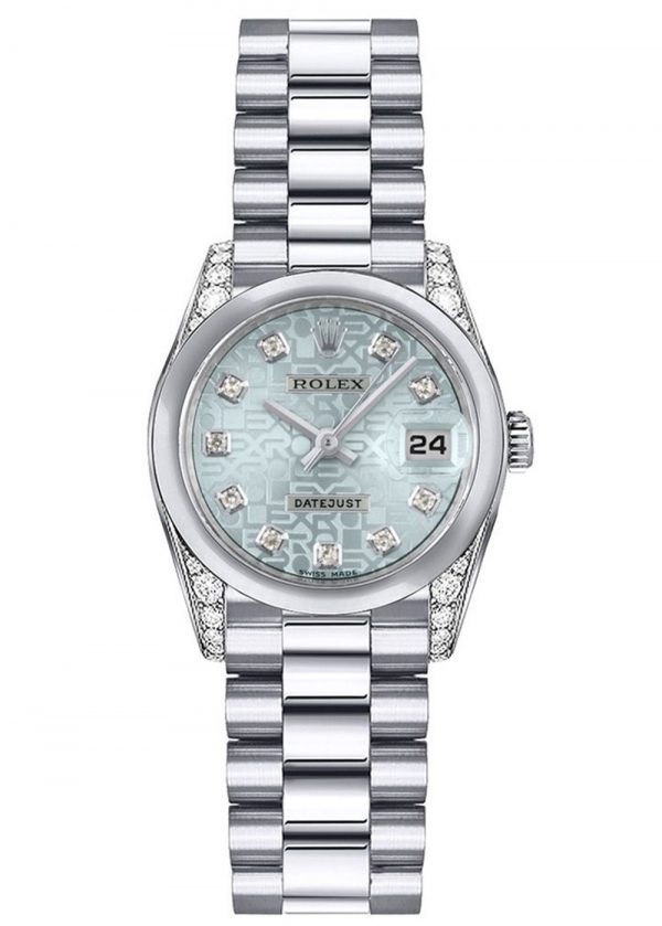 Rolex Datejust 179296 Platinum Ice Blue Dial 26MM Gehäuse