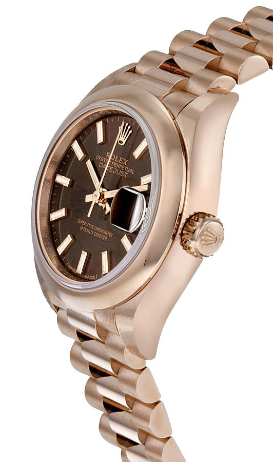 Rolex Datejust 279165 18 Karat Everose Gold Schokoladenbraunes Zifferblatt 28MM