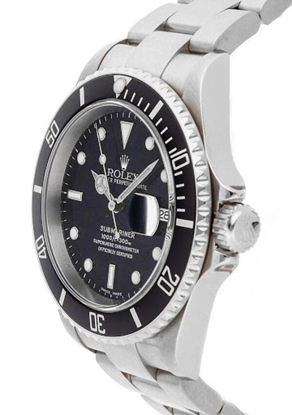 Rolex Submariner Date 16610 904L Oystersteel Edelstahl Schwarzes Zifferblatt 40MM Gehäuse